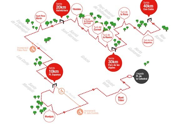 Vuelve la caminada solidaria Barcelona Magic Line, con distancias de 10, 20, 30 y 40 km
